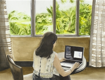 Nancy Holleran - UCSC Physicist at Work Giclee Print, Prints