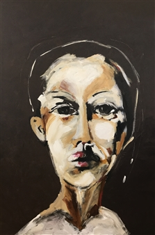 Laura Pretto Vargas - Androgynous IV Acrylic on Canvas, Paintings