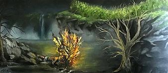 Tsila Mackay - The Elements Oil on Canvas, Paintings