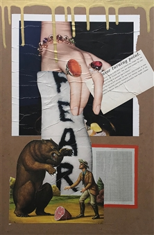 William Atkinson - Inflection Point Mixed Media & Collage on Board, Mixed Media