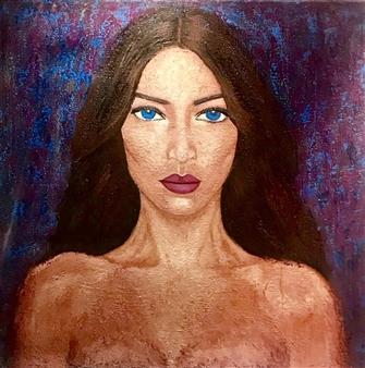 Hayam Elsayed - Possessive Love Acrylic on Canvas, Paintings