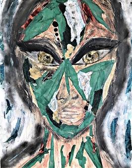 Vanessa Elaine - Reflection Mixed Media on Canvas, Mixed Media