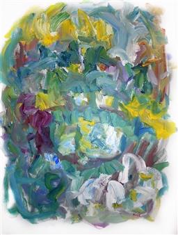 Susan Marx - Giverny, The Japanese Bridge Acrylic on Canvas, Paintings