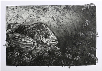 Juan Salazar - From the Series Contracorriente 14 Collograph, Prints