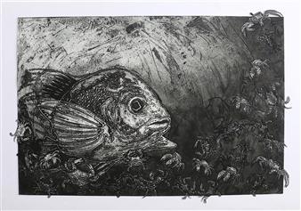 Juan Salazar - From the Series Contracorriente 14 Collograph, Prints