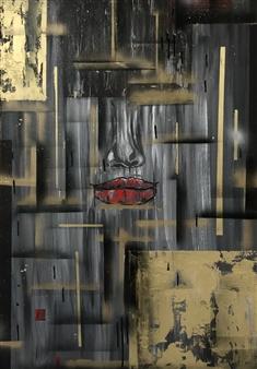 Olga Chajmova Holcova - Closer 2 Acrylic & Mixed Media on Canvas, Mixed Media