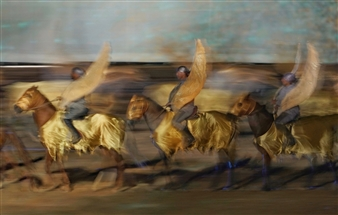 Danny Johananoff - Golden Angels Photograph on Plexiglass, Photography