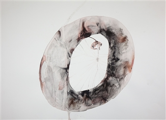 Kate Walters - Deep Space with Infant Watercolor on Paper, Paintings
