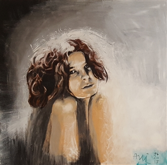 Anna Weichert - Selfportrait Oil on Canvas, Paintings