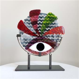 Anne Felicie Nickels - Apache 'Zickzack' #7 Kiln Formed Glass, Sculpture