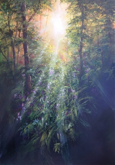 Lizzy Forrester - Morning Sunlight Oil on Canvas, Paintings