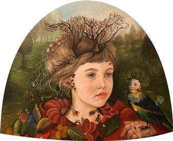 Rosana Largo Rodríguez - Metamorphosis Oil on Canvas of Wood, Bell Shape, Paintings