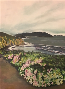 Gabriella Mirabelli - Pacifica Acrylic on Canvas, Paintings