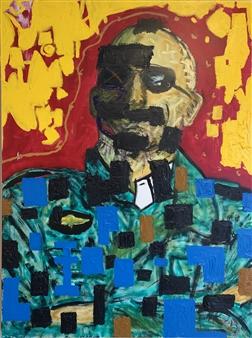 Hap Garrett - De Niro, Taxi Oil on Canvas, Paintings