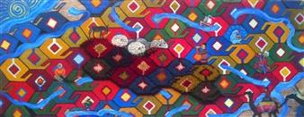 Yegana Azadova - The Dream Acrylic & Mixed Media on Canvas, Mixed Media