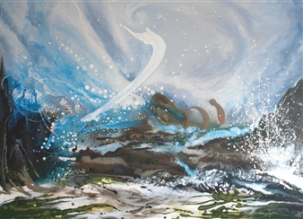 Olivia O'Keeffe - The Storm Acrylic on Canvas, Paintings