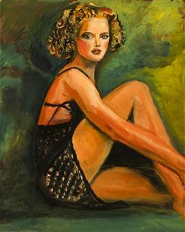 Raúl Mariaca Dalence - La Belle Nicole Oil on Canvas, Paintings