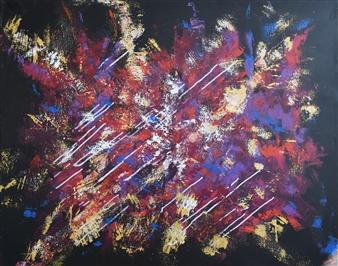 Barbara Wykrota - Jouissance Acrylic on Canvas, Paintings