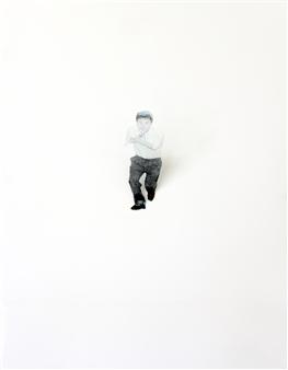 Eunmi Park - Don't Move Series 1 Mixed Media & Acrylic Tube on Canvas, Mixed Media
