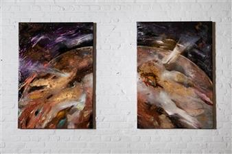 Charlotte De Baere - Vanitas Part I and II Acrylic & Mixed Media on Canvas, Mixed Media