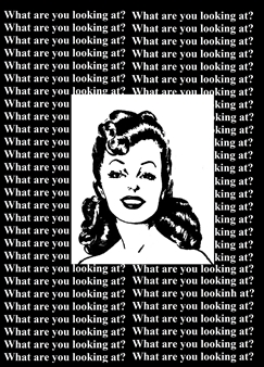 Marcos M. dos Santos - What are You Looking At? Digital Collage on Paper, Digital Art