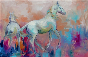 Jenny Blomquist - Discord Oil on Canvas, Paintings