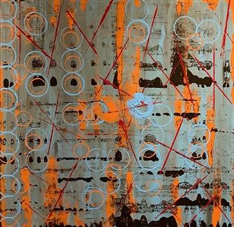Kim Hinkson - Connectivity Acrylic on Canvas, Paintings
