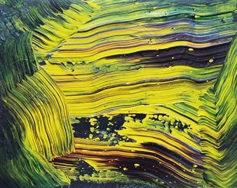 Makoto Oshima - No. 210507 Acrylic on Canvas, Paintings