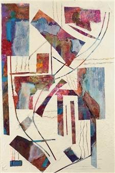 Pauline Rakis - Kite Strings Acrylic on Canvas, Paintings