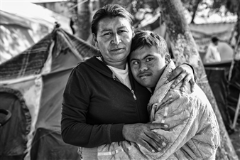 Ada Luisa Trillo - The Migrant Caravan - Javi y Su Mama Archival Pigment Print, Photography