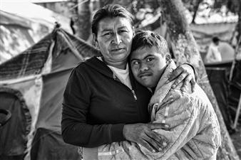 Ada Luisa Trillo - The Migrant Caravan - Javi y Su Mama Photograph on Fine Art Paper, Photography