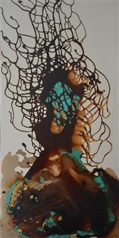 Fariba Baghi - Busy Mixed Media on Canvas, Mixed Media