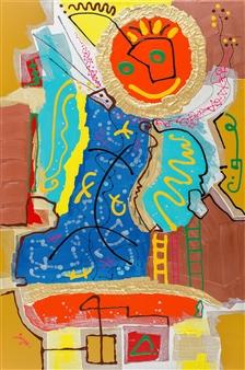 David Syre - Beyond the Sun... Angel Acrylic on Canvas, Paintings