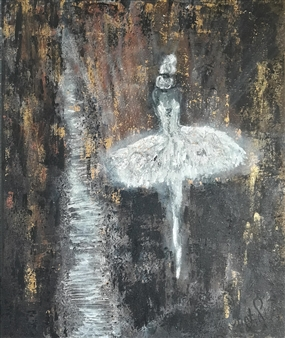 Chatarina Salomonsson - A Dancer's Career Ladder Acrylic on Canvas, Paintings
