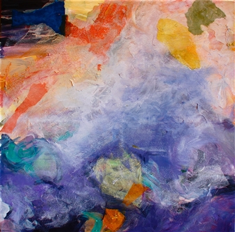 Wendy Yeager - Passing Storm Mixed Media on Canvas, Mixed Media
