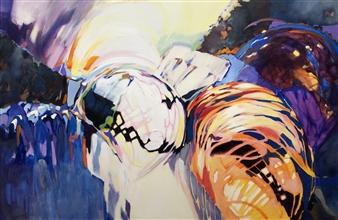 Monika Gloviczki - Interception Acrylic on Canvas, Paintings
