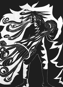 Marliese Scheller - Le Vent Encre de Chine on Paper, Drawings