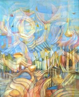 Maggie G. Moran - Morning Breaking Oil on Canvas Board, Paintings