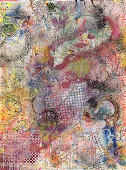 Denel-KK (Kristen Keeling) - Portal Points Mixed Media on Canvas, Mixed Media
