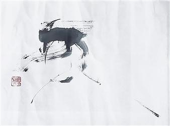 Sempu Nakajima - Fuyu (Winter) Thin Ink on Japanese Paper, Paintings