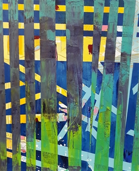 Claudia Mini - Friends in High Places Acrylic on Canvas, Paintings
