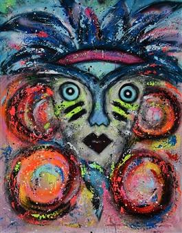 Lisa Gehres - The Ruler Acrylic & Spraypaint on Canvas, Paintings