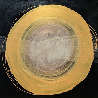 Anina E. Hathaway - Sound is Golden Acrylic on Wood Panel, Paintings