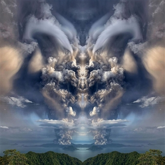 Hanan Levi - Satan or God Digital Print on Canvas, Digital Art