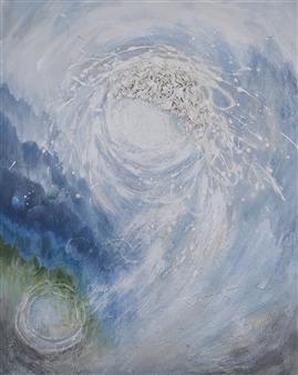 Nobuko Saji - Northern Star Acrylic & Mixed Media on Canvas, Mixed Media