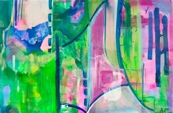 Abigail Custis - May Flowers Acrylic on Canvas, Paintings