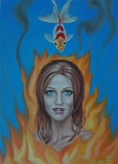 Helena Zyryanova - Flaming Oil on Canvas, Paintings