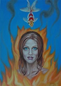 Helena Zyryanova - Flaming Oil on Canvas, Paintings