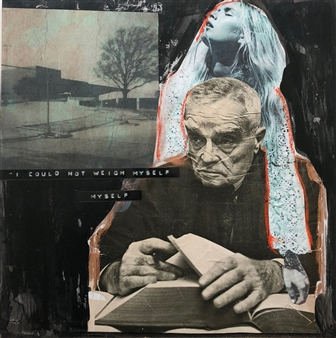 William Atkinson - Weight of the Matter Mixed Media & Collage on Board, Mixed Media