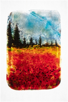 Manolo Ferrer - Forest 1 Glass Painting, Paintings